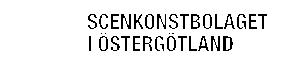 Scenkonstbolaget i Östergötland AB Logo